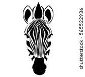 zebra head vector | Shutterstock .eps vector #565522936