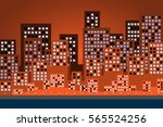 city landscape on afternoon... | Shutterstock .eps vector #565524256