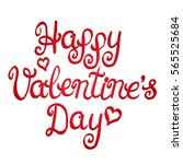 happy valentines day card with... | Shutterstock . vector #565525684