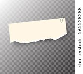 ripped piece of paper  sticker... | Shutterstock .eps vector #565528288
