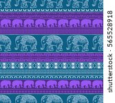 pattern with baby elephant made ...   Shutterstock .eps vector #565528918
