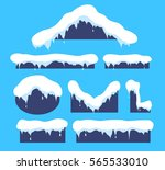snow on the roof. weather...   Shutterstock .eps vector #565533010