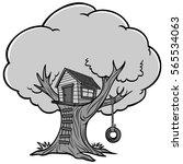 Tree House Illustration