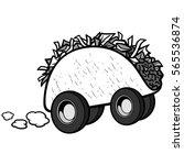 taco delivery illustration | Shutterstock .eps vector #565536874