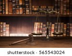 law theme  mallet of the judge  ... | Shutterstock . vector #565543024