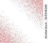 pink golden glitter made of... | Shutterstock .eps vector #565548280