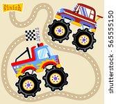 monster truck championship ... | Shutterstock .eps vector #565555150
