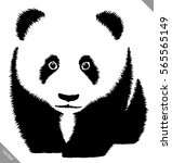 black and white linear paint... | Shutterstock .eps vector #565565149