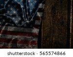 usa flag on a wood surface | Shutterstock . vector #565574866