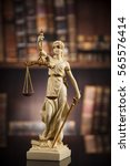 judge gavel and scales of... | Shutterstock . vector #565576414