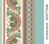 floral seamless pattern. ethnic ... | Shutterstock .eps vector #565577668