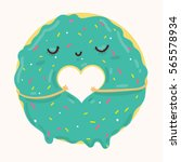 vector illustration of cute... | Shutterstock .eps vector #565578934