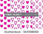 women's solidarity march... | Shutterstock .eps vector #565588000