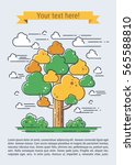 stylized vector tree. line art... | Shutterstock .eps vector #565588810