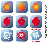 vector hurricane sign  symbol... | Shutterstock .eps vector #56558992