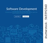 website banner and flyer... | Shutterstock .eps vector #565592560