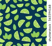 mojito cocktail   seamless... | Shutterstock .eps vector #565594168