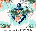 beautiful seamless vector... | Shutterstock .eps vector #565595854