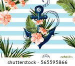 beautiful seamless vector... | Shutterstock .eps vector #565595866