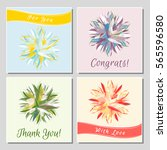 set of romantic greeting cards... | Shutterstock .eps vector #565596580