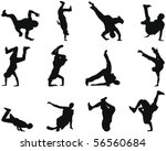 set of smooth break dance...
