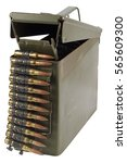 Small photo of .30 Cal Metal Ammo Can with ammunition belt