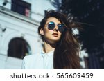 emotional portrait of fashion... | Shutterstock . vector #565609459