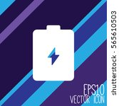 accumulator battery vector icon.... | Shutterstock .eps vector #565610503