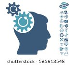 head cogs rotation pictograph... | Shutterstock .eps vector #565613548