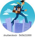 giant businessman in an... | Shutterstock .eps vector #565621000
