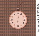 vector illustration of alice in ... | Shutterstock .eps vector #565621024