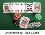 casino chips | Shutterstock . vector #56563255
