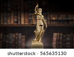 Judge Gavel And Scales Of...