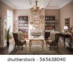 3d rendered modern classic... | Shutterstock . vector #565638040