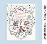 costumes carnival invitation... | Shutterstock .eps vector #565640584