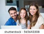 portrait of smiling family with