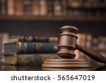 law theme  mallet of the judge  ... | Shutterstock . vector #565647019