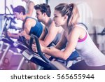 fit people doing exercise at gym | Shutterstock . vector #565655944