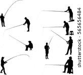 fishermen and fishing... | Shutterstock .eps vector #565656484
