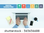 digital marketing concept with