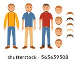 set of characters of young... | Shutterstock .eps vector #565659508