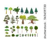 Ensemble De Vecteur Clipart (images Graphiques) D'arbre Illustration de  Vecteur - Illustration du clipart, vecteur: 97822208