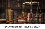 law theme  mallet of the judge  ... | Shutterstock . vector #565661524