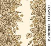 vintage vector seamless pattern ...   Shutterstock .eps vector #565669354