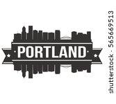 portland skyline stamp skyline... | Shutterstock .eps vector #565669513