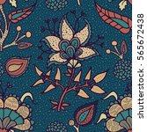 indian national paisley... | Shutterstock . vector #565672438