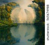 3d illustration of landscape... | Shutterstock . vector #565674988