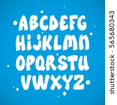 liquid comic font with splashes.... | Shutterstock .eps vector #565680343