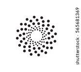 abstract circular halftone dots ...   Shutterstock .eps vector #565681369