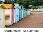beach huts in devon | Shutterstock . vector #565684600